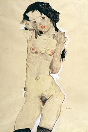 Nude, 1910 by Egon Schiele