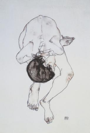 Nude - 1913 by Egon Schiele