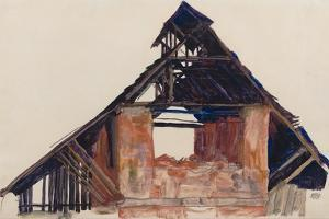 Old Gable, 1913 by Egon Schiele