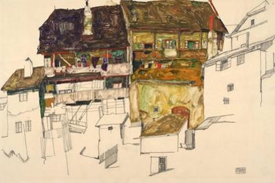 Old Houses in Krumau, 1914 by Egon Schiele