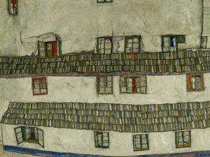 Old Houses (Krumlov, Bohemia), 1917 by Egon Schiele