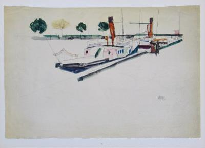Paddle-Steamer at the Quay, 1912 by Egon Schiele