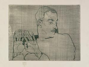 Portrait of Arthur Roessler, 1914 by Egon Schiele