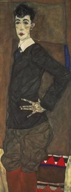 Portrait of Erich Lederer by Egon Schiele