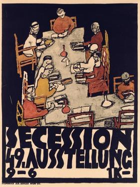 Poster Advertising Secession 49 Exhibition, 1918 by Egon Schiele