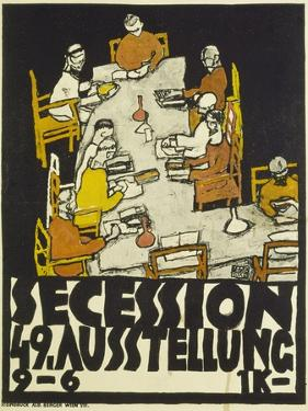 Poster for the Vienna Secession, 49th Exhibition, 1918 by Egon Schiele