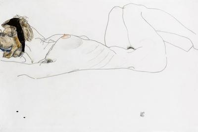 Reclining Female Nude, 1912 by Egon Schiele