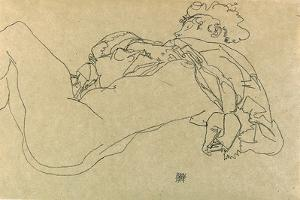 Reclining Female Nude, 1914 by Egon Schiele