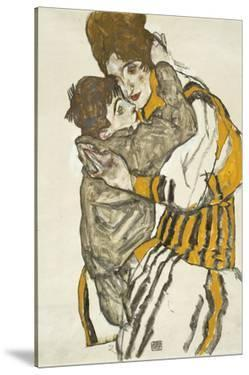 Schiele's Wife with Her Little Nephew, 1915 by Egon Schiele