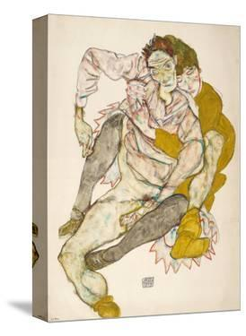Seated Couple, 1915 by Egon Schiele