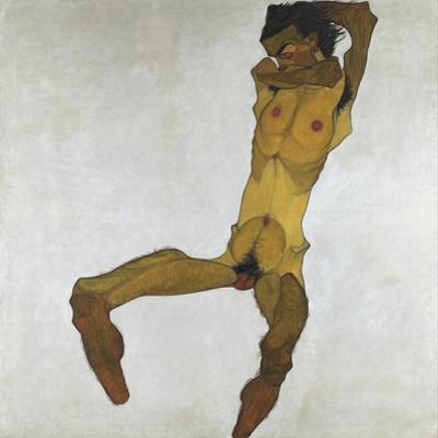 Seated Male Nude (Self-Portrait), 1910 by Egon Schiele