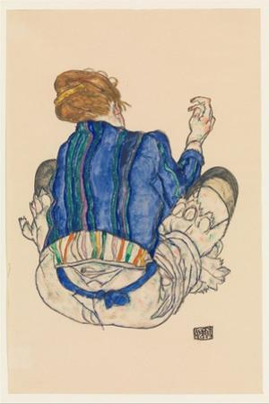 Seated Woman, Back View, 1917 by Egon Schiele