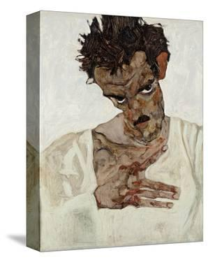 Self-Portrait with Lowered Head by Egon Schiele