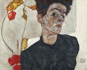 Self-Portrait with Physalis, 1912 by Egon Schiele