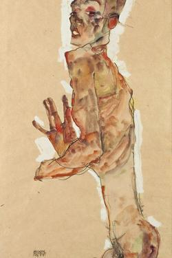 Self-Portrait with Splayed Fingers, 1911 by Egon Schiele