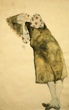 Sleeping Girl by Egon Schiele