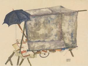 Street Cart, 1914 by Egon Schiele