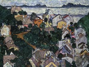 Summer Landscape; Sommerlandschaft, 1917 by Egon Schiele