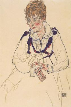The Artist's Wife, Seated, 1917 by Egon Schiele