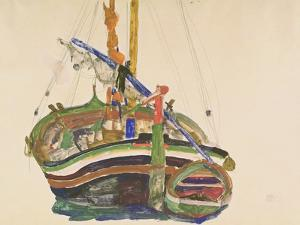 Trieste Fishing Boat, 1912 by Egon Schiele