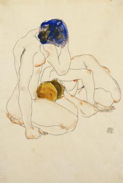 Two Friends, 1912 by Egon Schiele