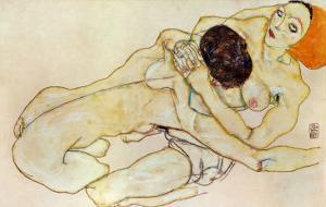 Two Girls (Lovers), 1914 by Egon Schiele