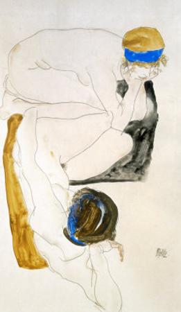 Two Reclining Figures, 1912 by Egon Schiele