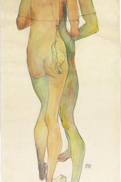 Two Standing Nudes, 1913 by Egon Schiele