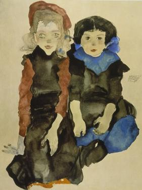 Two Young Girls, 1911 by Egon Schiele