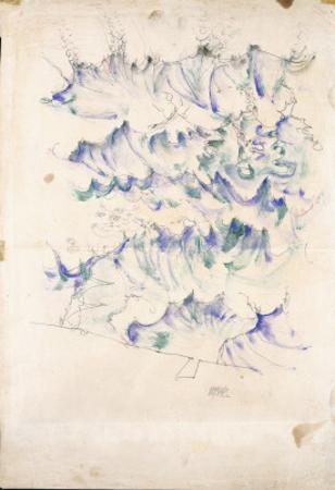 Waves, 1912 by Egon Schiele