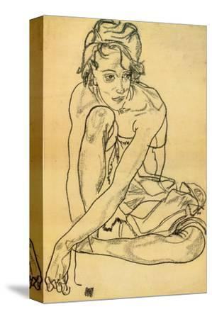 Woman Crouching, 1918 by Egon Schiele