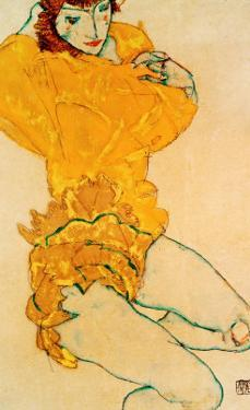 Woman Undressing, 1914 by Egon Schiele