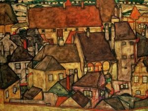 Yellow City, 1914 by Egon Schiele