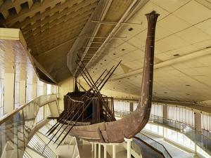 Egypt, Cairo, Giza, the Solar Boat of Cheops, in Museum