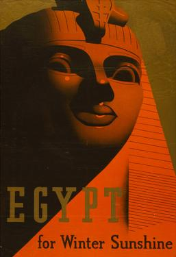 Egypt for Winter Sunshine Travel Vintage Ad Poster Print