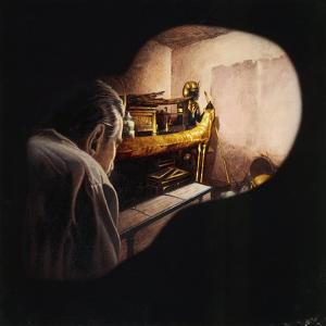 Egypt, Howard Carter Enters Burial Chamber at Tutankhamens Tomb