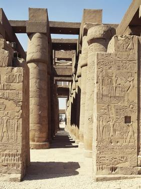 Egypt, Luxor, Karnak, Great Temple of Amon, Hypostyle Hall