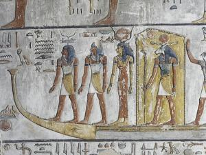 Egypt, Thebes, Luxor, Valley of the Kings, Mural Paintings, Side Chamber, Tomb of Seti I