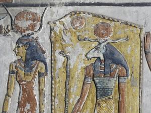Egypt, Thebes, Luxor, Valley of the Kings, Mural Paintings, Side Chamber