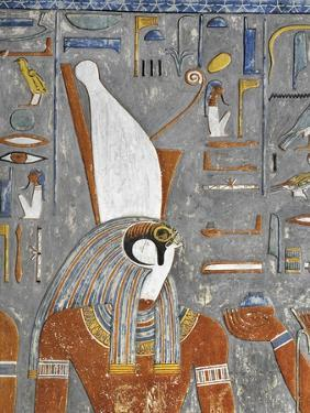 Egypt, Thebes, Luxor, Valley of the Kings, Tomb of Horemheb, Mural Painting of Harsiesis