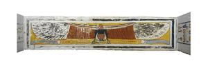Egypt, Thebes, Luxor, Valley of the Kings, Tomb of Ramses VI, Mural Paintings on Corridor Ceiling