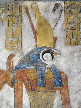 Egypt, Thebes, Luxor, Valley of the Kings, Tomb of Tausert, Mural Painting of Horus