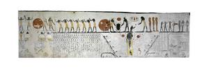 Egypt, Tomb of Ramses IX, Mural Painting Illustrating Book of Earth in Burial Chamber