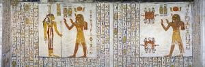 Egypt, Tomb of Ramses VI, Mural Painting from Illustrated Book of the Dead, in Burial Chamber
