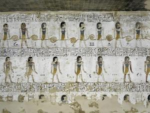 Egypt, Valley of the Kings, Tomb of Merneptah, Mural Painting from Illustrated Book of Gates