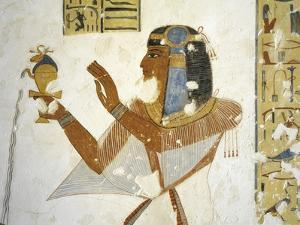 Egypt, Valley of the Kings, Tomb of Prince Mentuherkhepeshef, Mural Painting of Prince