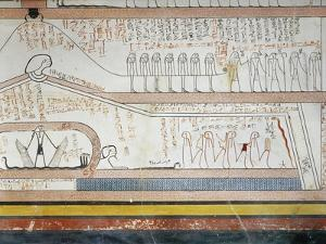 Egypt, Valley of the Kings, Tomb of Thutmose III, Mural Paintings from Burial Chamber, 18th Dynasty