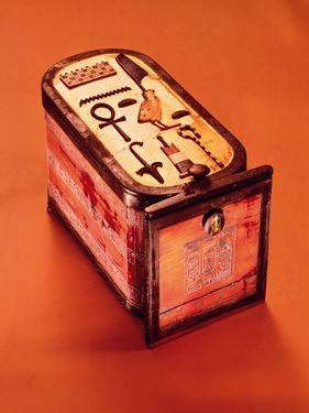 Cartouche-Shaped Box, from the Tomb of Tutankhamun, New Kingdom by Egyptian 18th Dynasty