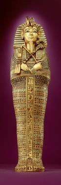 Front View of One of the Canopic Coffins, from the Tomb of Tutankhamun by Egyptian 18th Dynasty