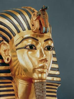 The Funerary Mask of Tutankhamun by Egyptian 18th Dynasty